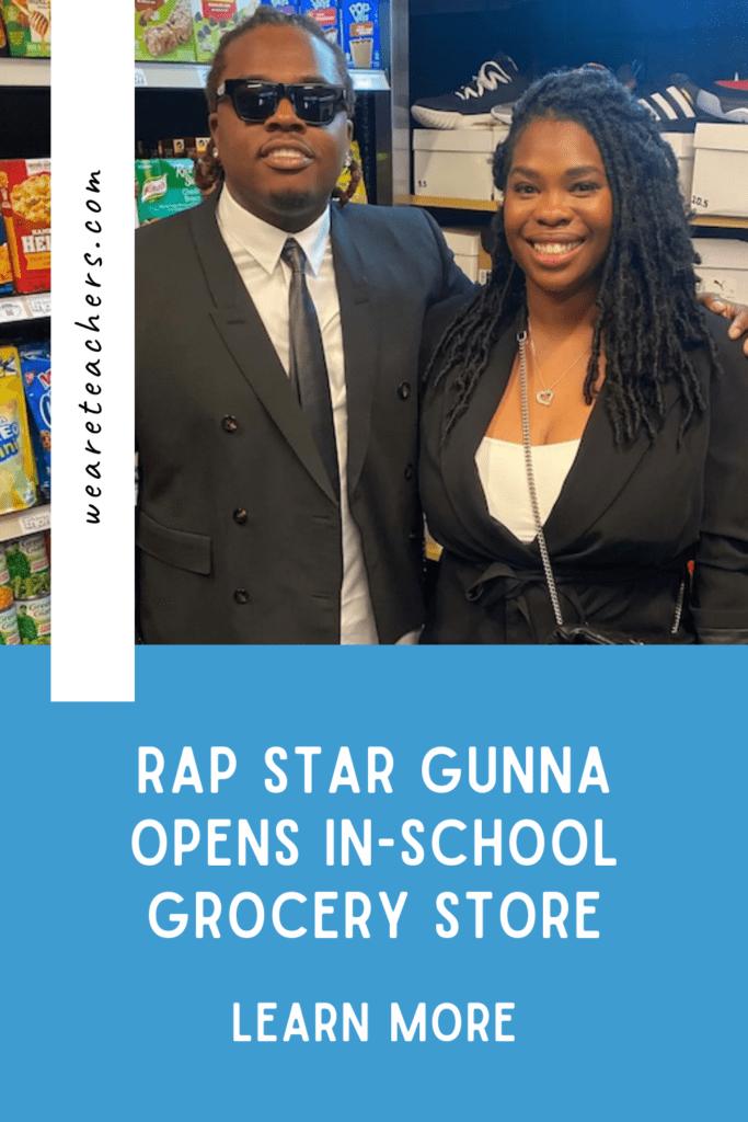 Rap Star Gunna Opens In-School Grocery Store in Atlanta Middle School