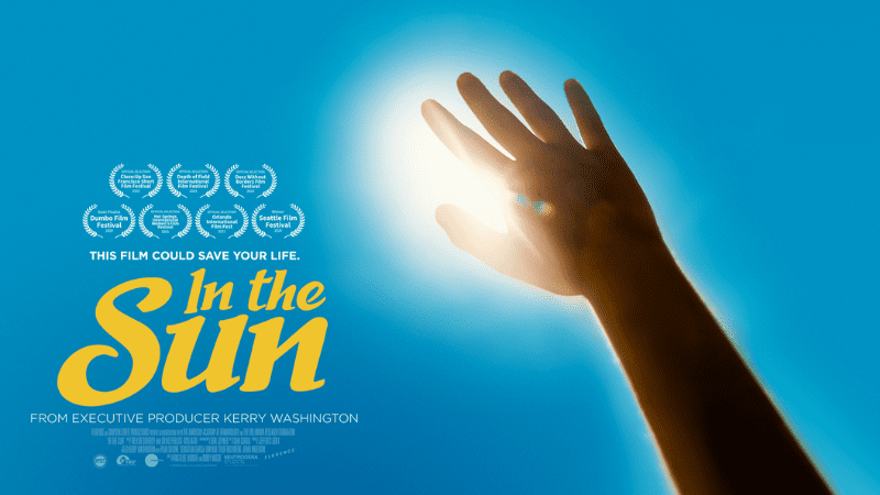 "arm reaching toward the sun with text: ""This film could save your live: In the Sun"""