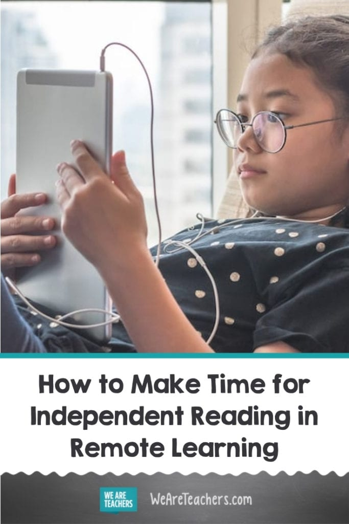 How to Make Time for Independent Reading in Remote Learning