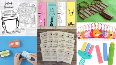 Collage of inexpensive gift ideas for students.