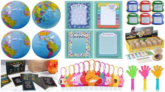 Collage of Inexpensive Gift Ideas for Students