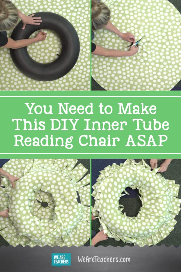 You Need to Make This DIY Inner Tube Reading Chair ASAP