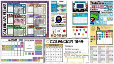 Collage of Interactive Online Calendars