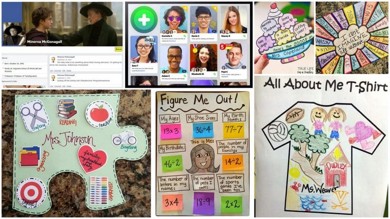 Collage of Ways to Introduce Yourself to Students