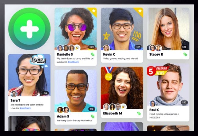 Flipgrid Page showing students introducing themselves