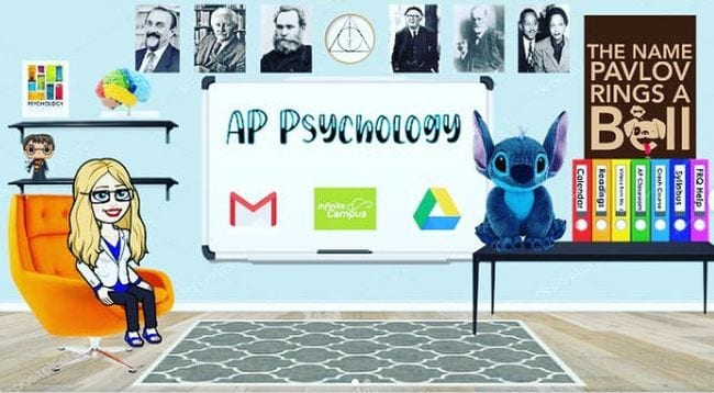 Bitmoji classroom for AP Psychology (Introduce Yourself To Your Students)