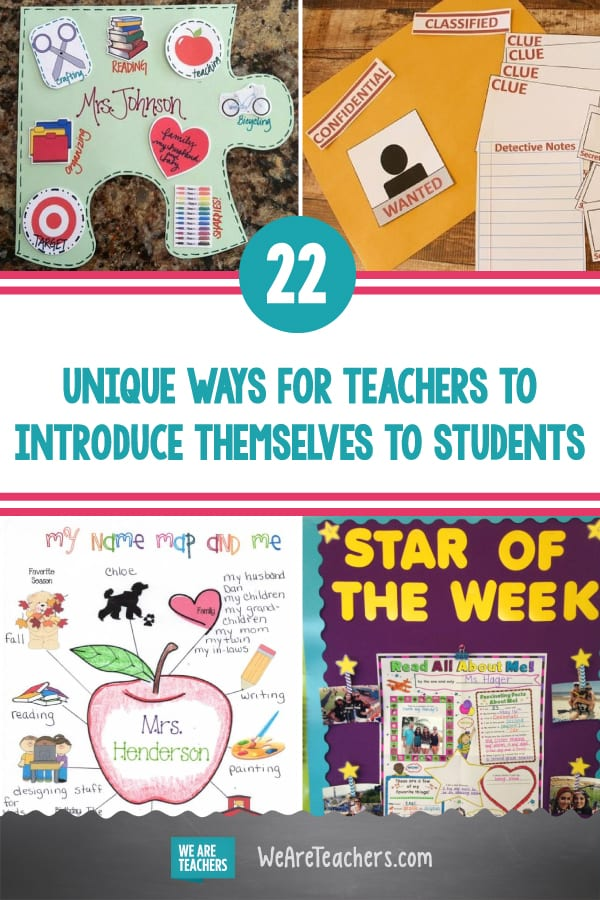 22 Unique Ways to Introduce Yourself to Your Students, In Person or Online