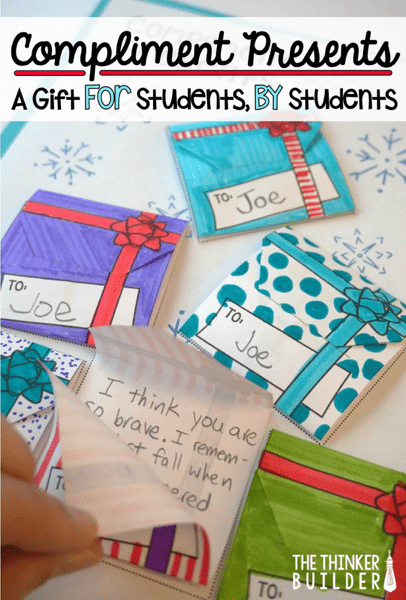 Compliment presents in the classroom