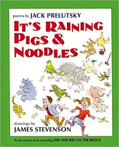 Book cover for It's Raining Pigs & Noodles, as an example of poetry books for kids