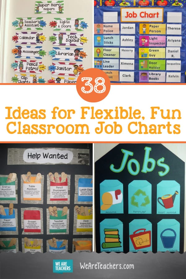 38 Ideas for Flexible, Fun Classroom Job Charts