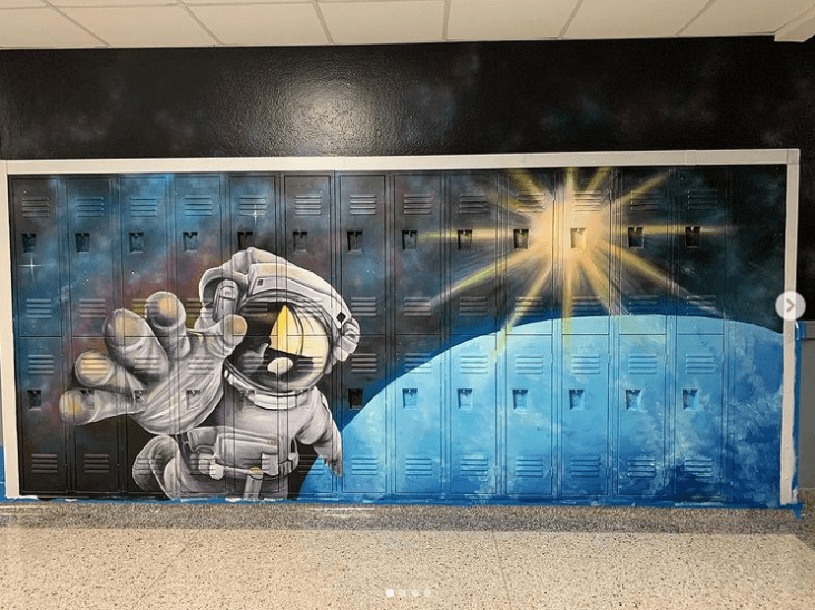 Journey to space mural