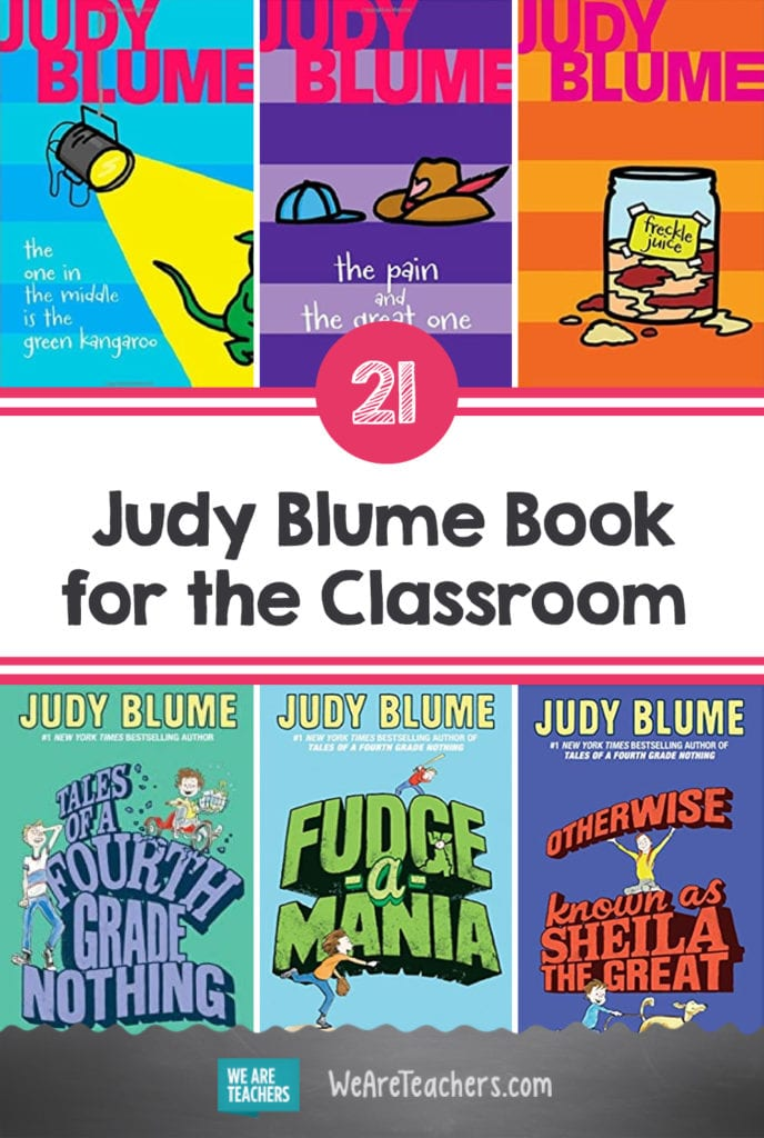 21 Judy Blume Books That Should Be in Your Classroom Library