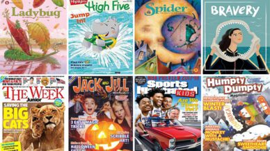 magazine covers with examples of the best magazines for kids