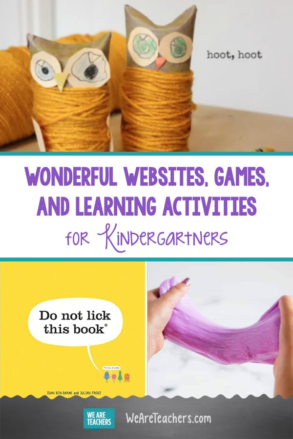 Wonderful Websites, Games, and Learning Activities for Kindergartners