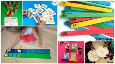 Collage of Kindergarten Math Games