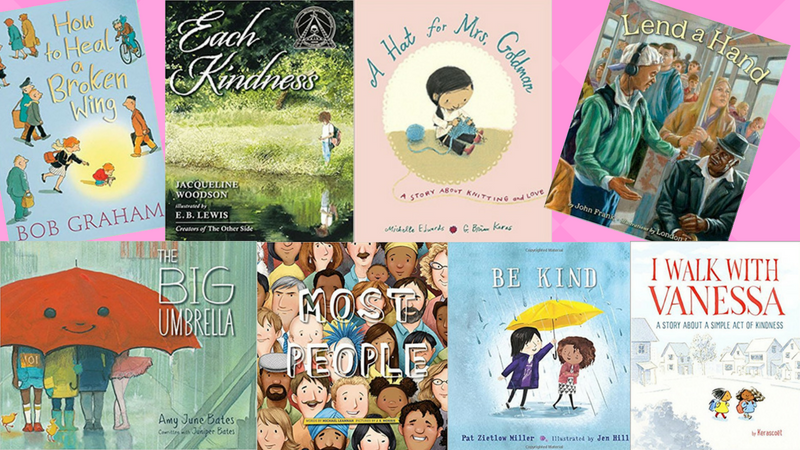 Colage of Best Kindness Books for Kids