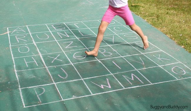 Kinesthetic Reading Activities ABC Grid