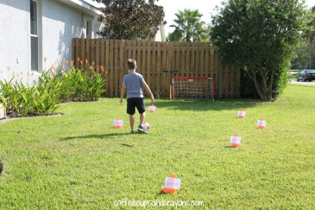 Kinesthetic Reading Activities Sight Word Soccer
