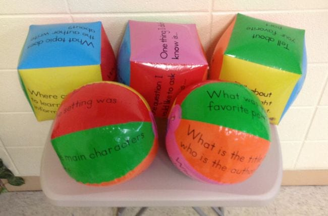 Kinesthetic Reading Activities Guided Reading Beach Balls