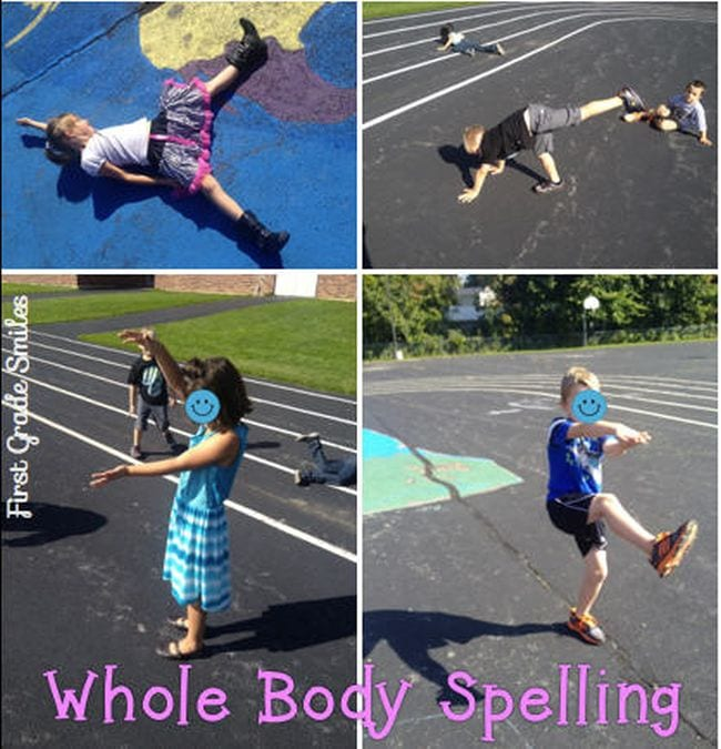 Kinesthetic Reading Activities Whole Body Letters