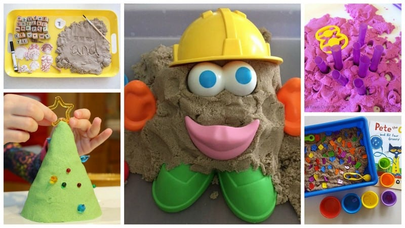 Different Kinetic Sand Activities.