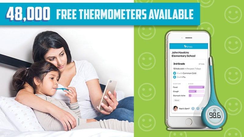 48000 Free Kinsa Smart Thermometers