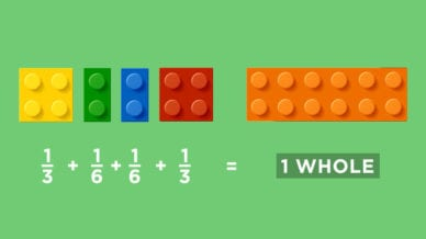 LEGO Math Fractions