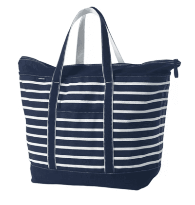 Lands End Zip Top Bag, as an example of teacher tote bags