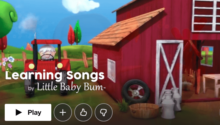 Learning Songs by Little Baby Bum
