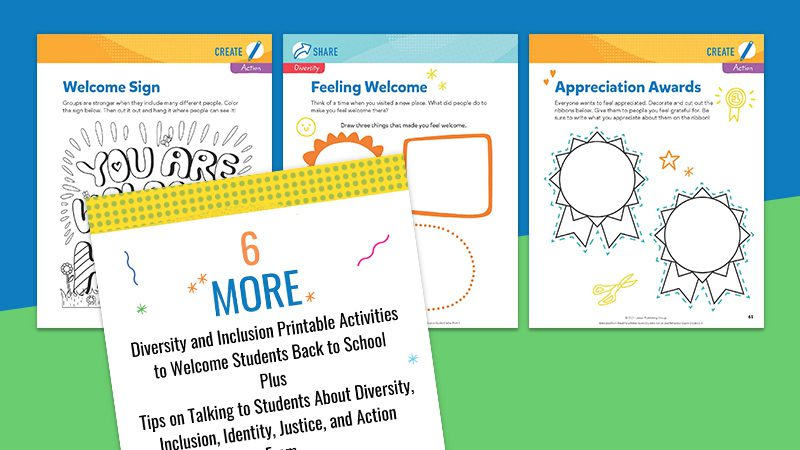 6 Diversity and Inclusion Printable Activities To Welcome Your Students Back to School