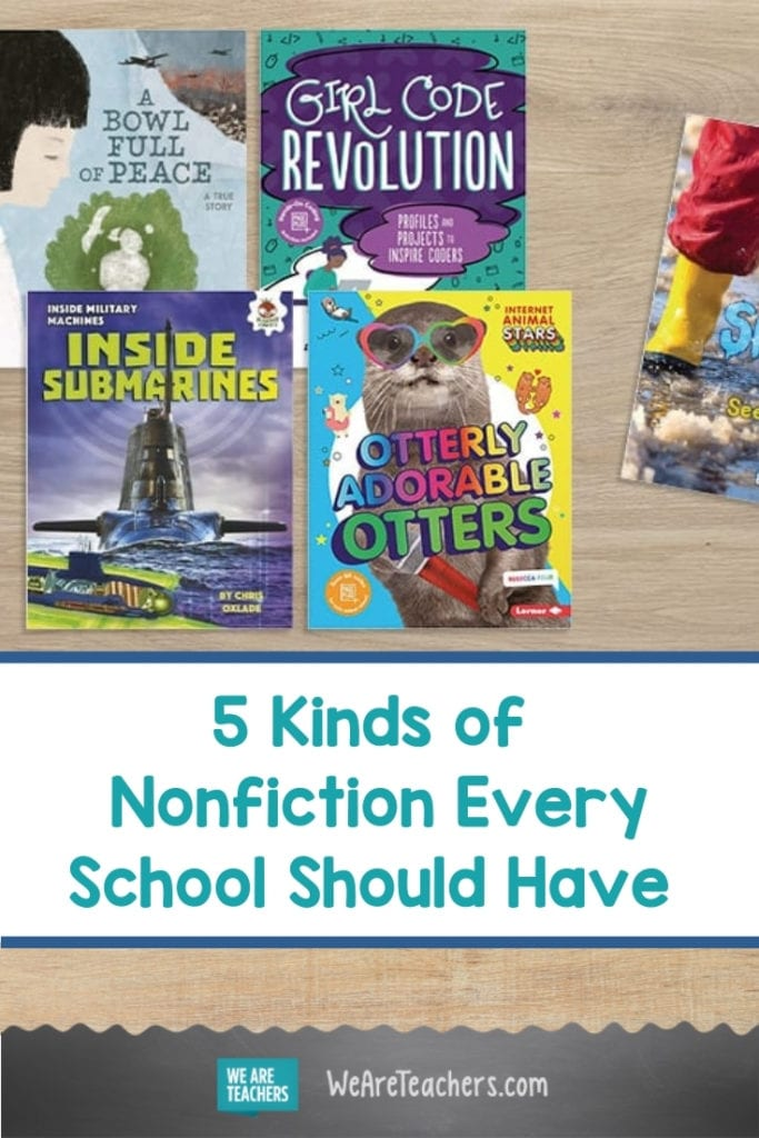 5 Kinds of Nonfiction Every School Should Have (with Book Recommendations)