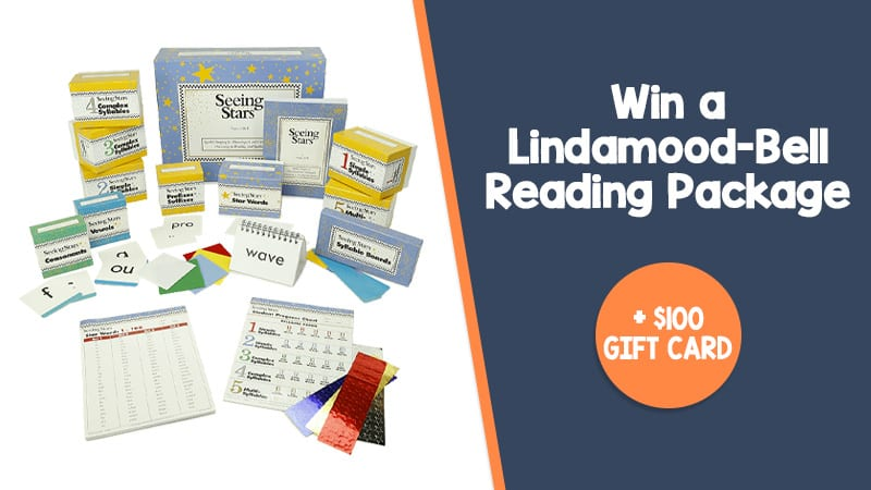 Win a Lindamood-Bell Reading Package + $100 gift card.