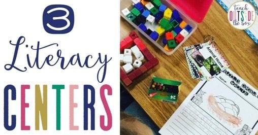 STEM Bins Literacy Centers