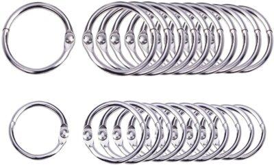Looseleaf binder rings