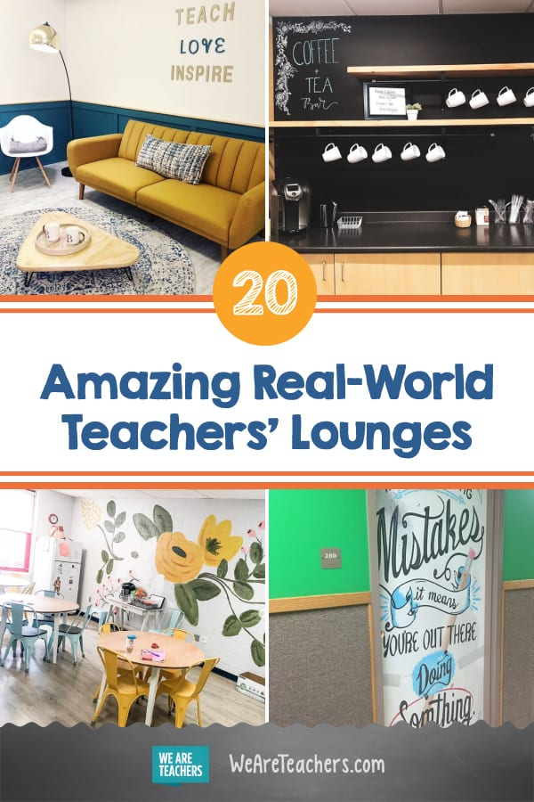 We Love These Real-World Teachers' Lounges (Can We Get One at Our School?)