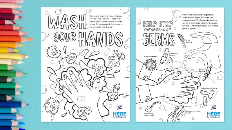 Germ coloring pages by Lysol