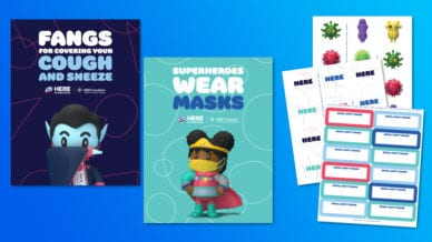 Lysol Posters and Stickers for Healthy Habits in Classrooms.