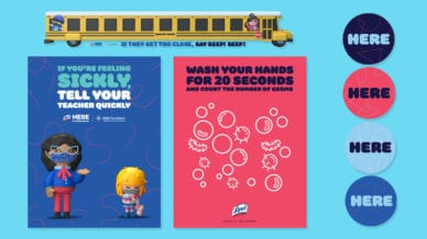 A Lysol signup page image about promoting healthy habits in the classroom.