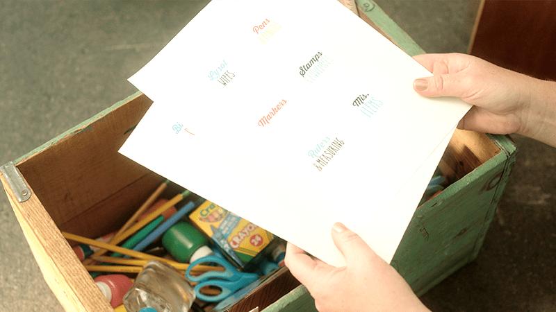 Classroom organizer labels