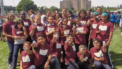 Lystra-Ann Lee Sam and her Community Math and Science running students in NYC