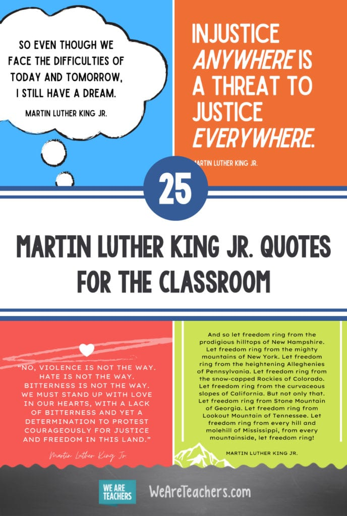 25 Martin Luther King Jr. Quotes for the Classroom