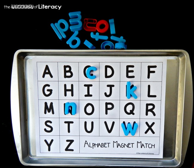 Magnet Hacks Matching Letters of Literacy