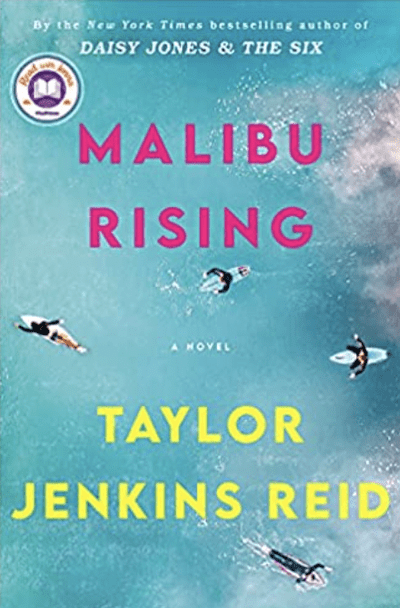 book cover: Malibu Rising By Taylor Jenkins, as an example of books for teachers to read over the summer
