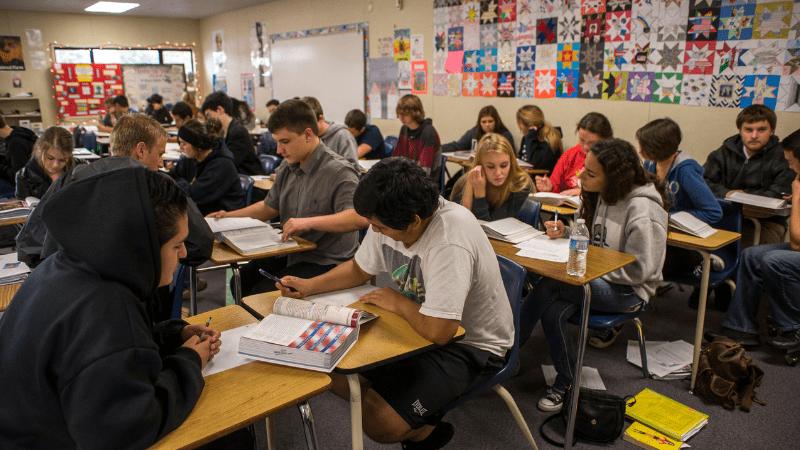 Large class in California