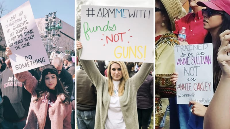 The Best March for Our Lives Teacher Signs