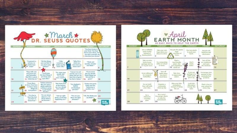 free-printable-2019-calendar-March-April