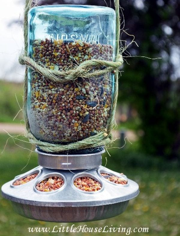 Mason Jars Birdfeeder Little House Living
