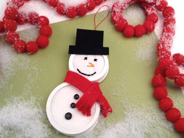 Mason Jars Snowman Womans Day