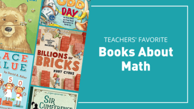 """cover images of picture books about math: """"Teachers' Favorite Books About Math"""""""