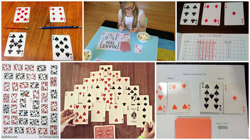 Collage of Math Card Games